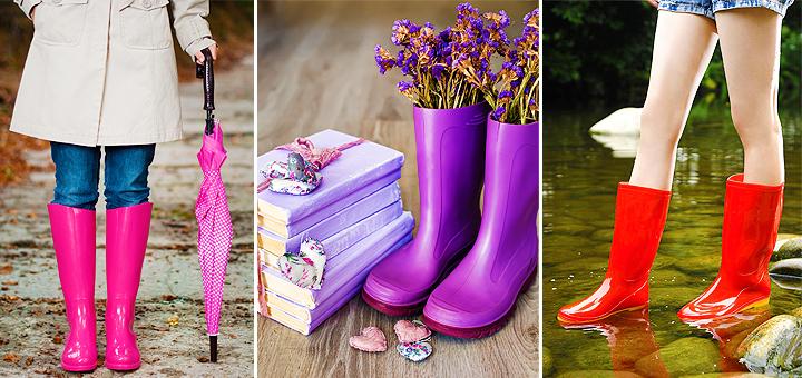 Как красиво и модно носить резиновые сапоги